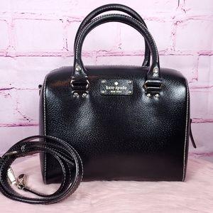 Kate Spade Black Leather Crossbody Satchel